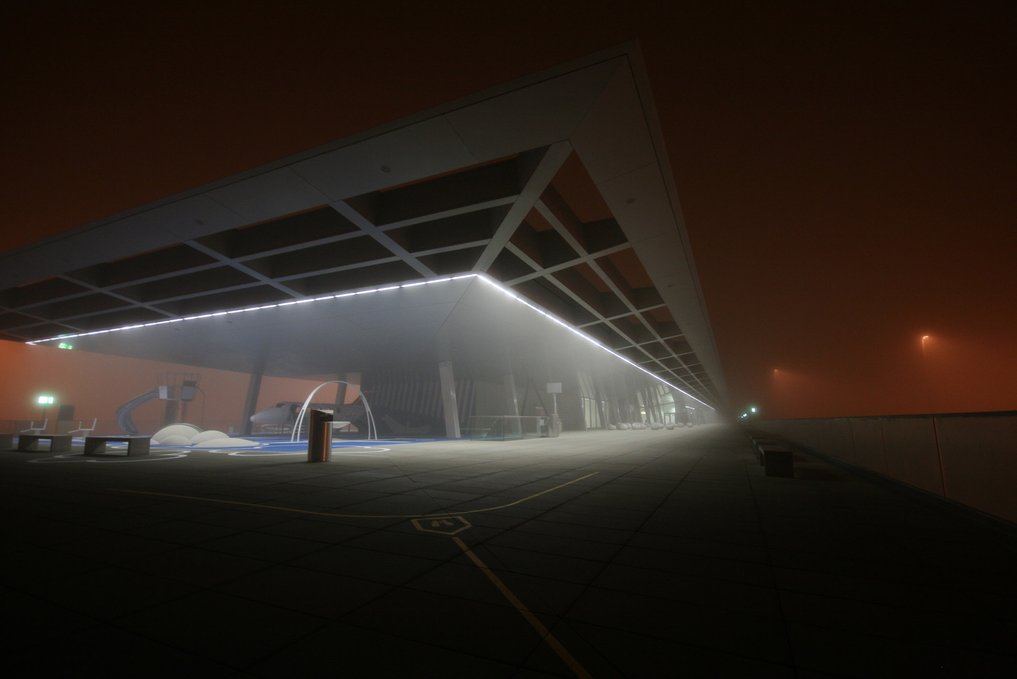 Dock b zurich airport lighting design austria