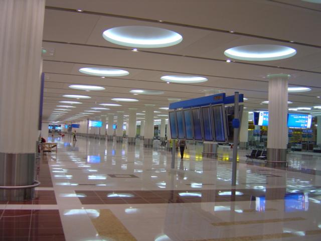 Dubai international airport lighting design austria